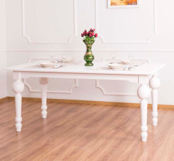 Casa Padrino country style dining table white 180 x 90 x H. 78 cm - Country Style Dining Room Furniture