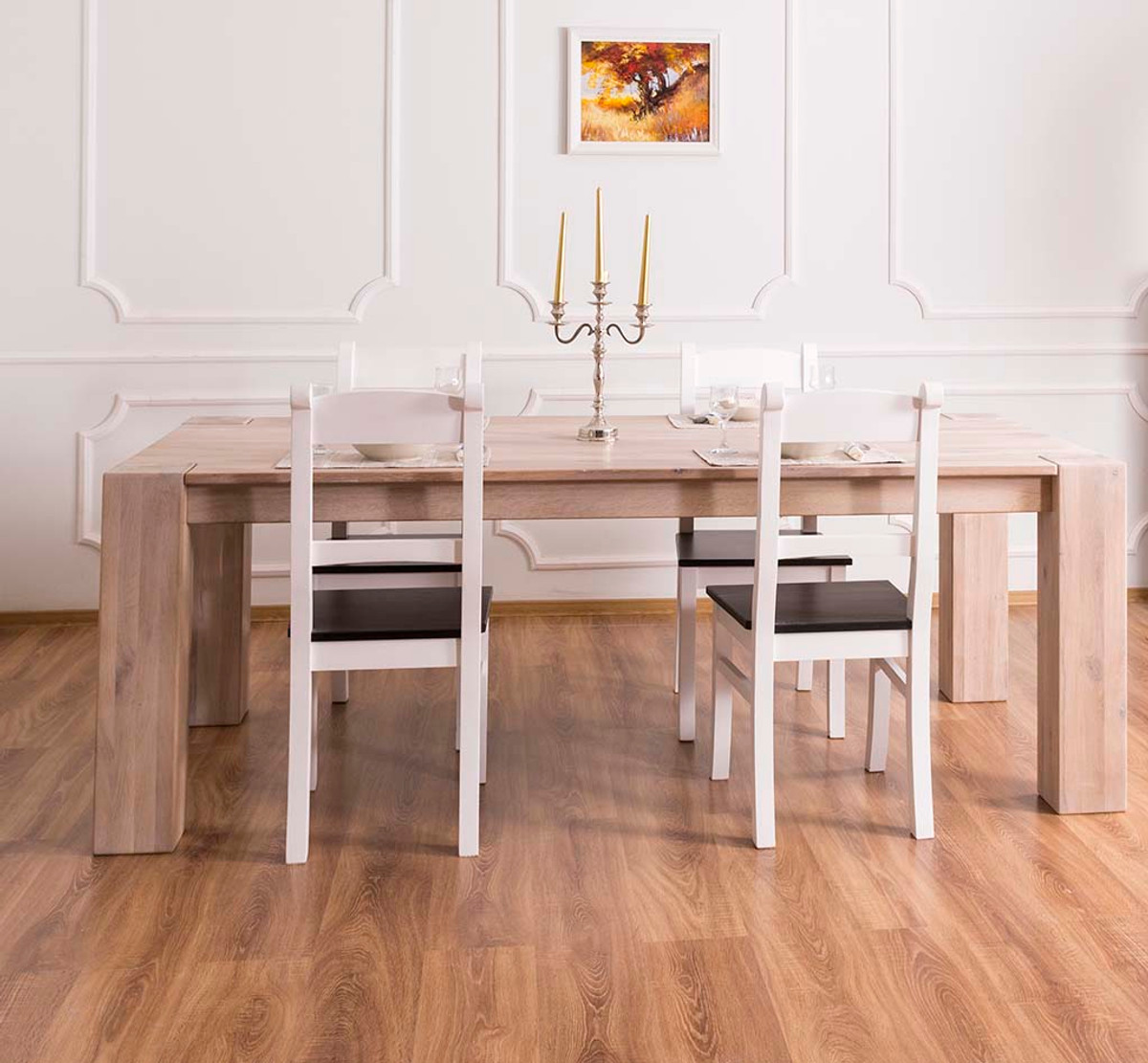 Casa padrino solid wood dining table natural colors 220 x for Quality wood dining tables