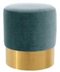Casa Padrino luxury stool dark turquoise / gold Ø 40 x H. 45 cm - Hotel Furniture