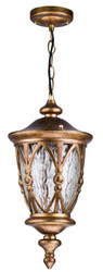 Casa Padrino baroque style outdoor hanging light antique gold Ø 19,2 x H 41,9 cm - Baroque Hanging Lamp