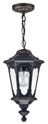 Casa Padrino baroque style outdoor hanging light antique bronze Ø 18.8 x H. 35.6 cm - Baroque Hanging Lamp