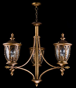 Casa Padrino baroque style outdoor hanging lamp 3-flame antique gold - Furniture in Baroque Style – Bild 3