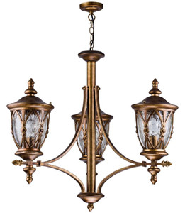 Casa Padrino baroque style outdoor hanging lamp 3-flame antique gold - Furniture in Baroque Style – Bild 1