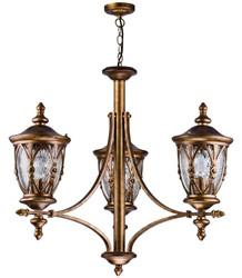 Casa Padrino Barockstil Außenhängeleuchte 3-Flammig Antik Gold - Möbel im Barockstil