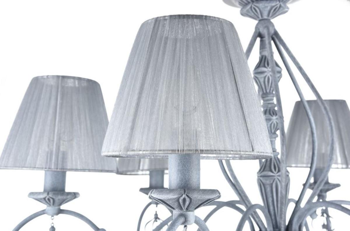 Kronleuchter Metall Antik ~ Casa padrino barockstil kronleuchter antik grau Ø h cm