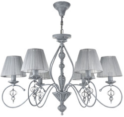 Casa Padrino baroque style chandelier antique gray Ø 74 x H. 55 cm - Baroque Furniture