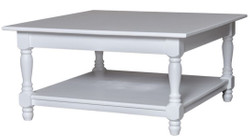 Casa Padrino country style coffee table white 90 x 90 x H. 45 cm - Country Style Furniture