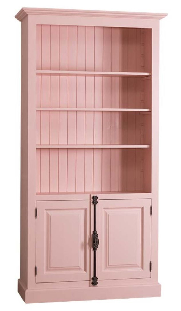 Casa Padrino Landhausstil Bücherschrank Rosa 109 X 40 X H. 210 Cm   Landhausstil  Wohnzimmerschrank