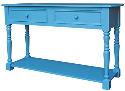 casa padrino landhausstil konsolentisch mit 2 schubladen und regal blau 152 x 51 x h 90 cm. Black Bedroom Furniture Sets. Home Design Ideas