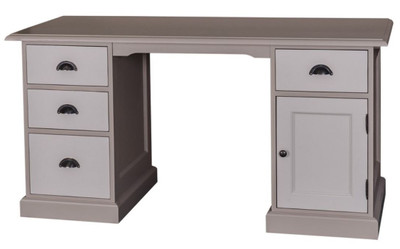 Casa Padrino Country Style Desk Gray Light Gray 152 X 70 X H 78