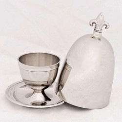 Casa Padrino Luxury Baroque Egg Cup with Lid Set for 6 persons Brass plated antique style