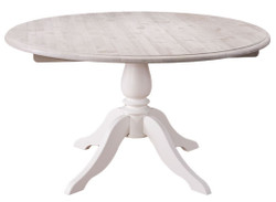 Casa Padrino country style dining table natural colors / white Ø 130 x H 78 cm - Dining Room Furniture in Country Style