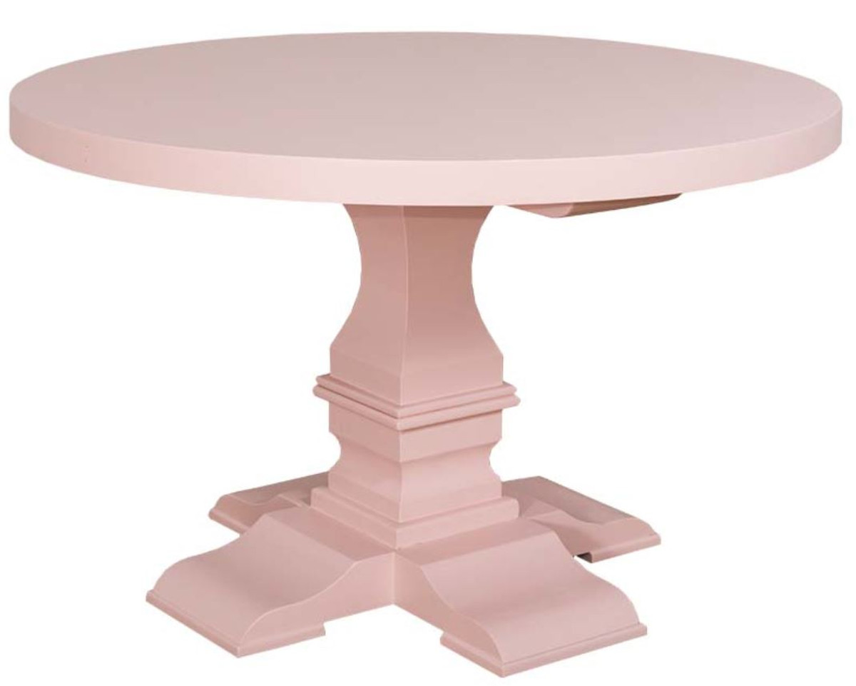 Pink Round Table.Casa Padrino Country Style Dining Table Round Light Pink Pink O