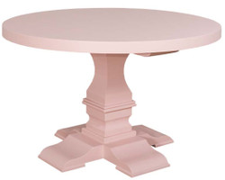 Casa Padrino country style dining table round light pink / pink Ø 130 x H. 78 cm - Dining Room Table in Country Style