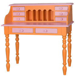 Casa Padrino country style desk orange / pink 109 x 60 x H. 110 cm - Country Style Furniture