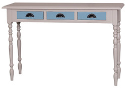 Casa Padrino country style console gray / blue 120 x 35 x H. 79 cm - Country Style Furniture