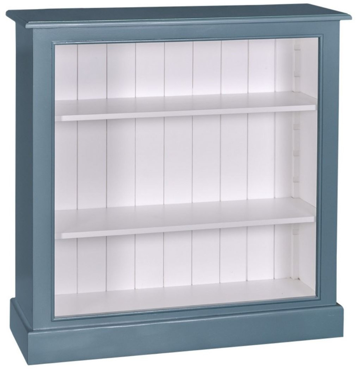 Casa Padrino Country Style Bookcase Blue White 102 X 35 X