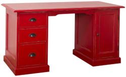 Casa Padrino Landhausstil Schreibtisch Antik Stil Rot 152 x 70 x H. 78 cm - Landhausstil Büromöbel