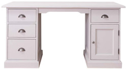 Casa Padrino country style desk white 152 x 70 x H. 78 cm - Country Style Office Furniture