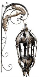 Casa Padrino Barock Wandleuchte Schwarz 36 x 60 x H. 115 cm - Leuchten & Lüster im Barockstil