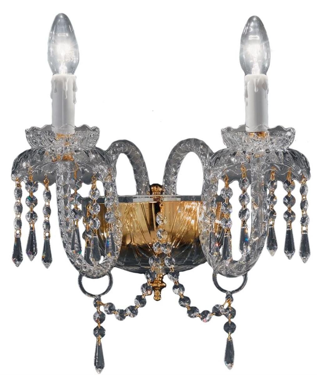 Poltrone In Plastica Stile Barocco.Casa Padrino Lampada Da Parete In Vetro Stile Barocco In Ottone
