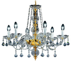 Casa Padrino baroque crystal chandelier gold Ø 65 x H. 58 cm - Noble & Sumptuous