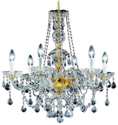 Casa Padrino baroque crystal chandelier gold Ø 62 x H. 61 cm - Lights & Chandeliers in Baroque Style