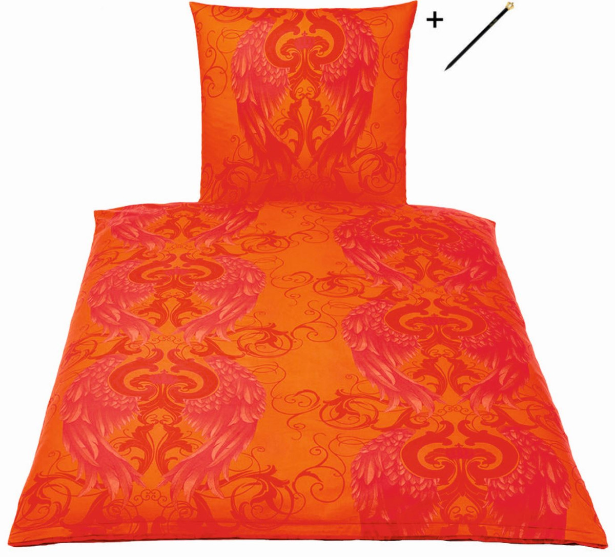harald gl ckler designer bettw sche engel rot 135 x 200. Black Bedroom Furniture Sets. Home Design Ideas