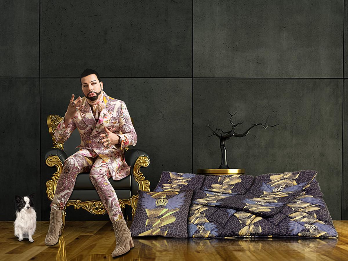 harald gl ckler designer verwandlungskissen leo mehrfarbig casa padrino luxus barock. Black Bedroom Furniture Sets. Home Design Ideas
