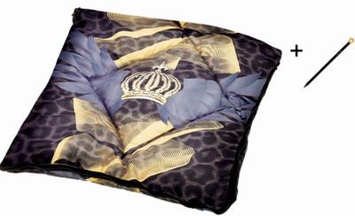 Harald Glööckler Designer Transforming Cushion Leo Multicolor + Casa Padrino Luxury Baroque Pencil with Crown Design – Bild 1