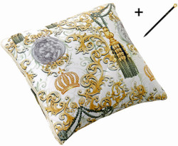 Harald Glööckler Designer Transforming Cushion Quaste Multicolor + Casa Padrino Luxury Baroque Pencil with Crown Design
