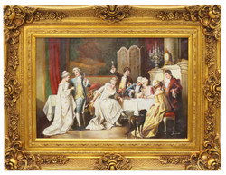 Casa Padrino baroque oil painting celebration gold pageantry frame 130 x H. 100 cm - Noble & Magnificent