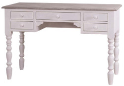 Casa Padrino country house style desk white / gray 130 x 65 x H. 85 cm - Country House Style Hotel Furniture