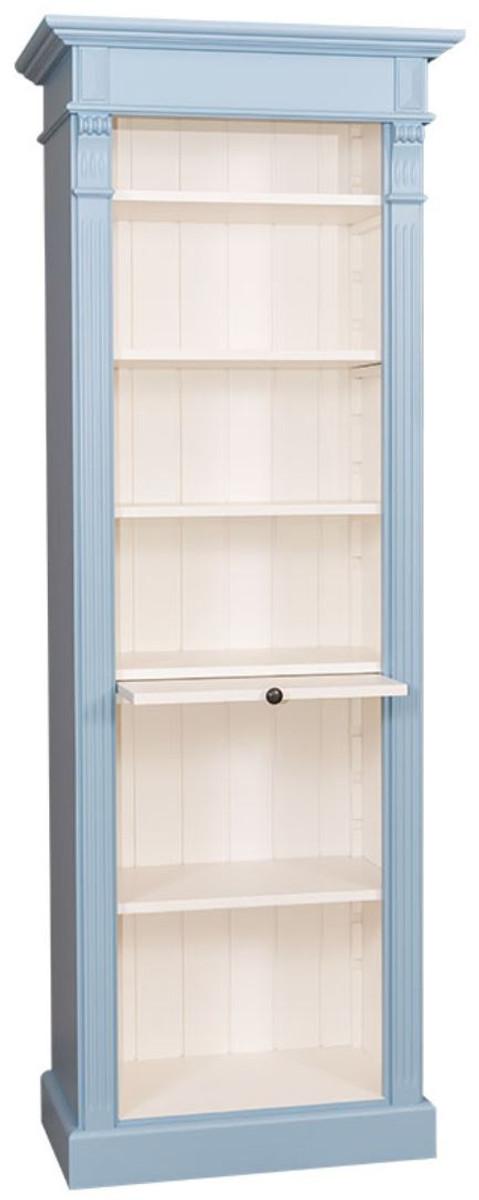 casa padrino landhausstil regalschrank hellblau wei 70 x 39 x h 197 cm landhausstil. Black Bedroom Furniture Sets. Home Design Ideas