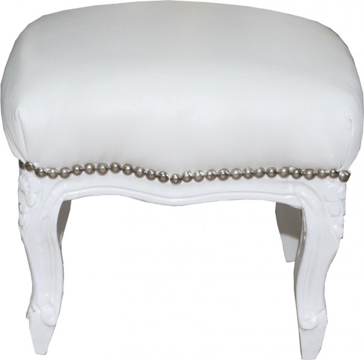 casa padrino barock fu hocker wei wei lederoptik hocker m bel hocker barock hocker barock. Black Bedroom Furniture Sets. Home Design Ideas