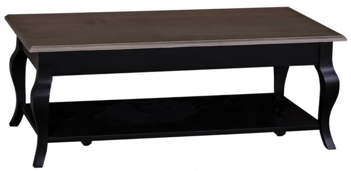 casa padrino landhausstil couchtisch schwarz dunkelbraun. Black Bedroom Furniture Sets. Home Design Ideas