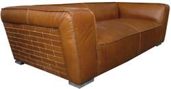 Casa Padrino luxury sofa columbia brown 228 x 112 x H. 67 cm - Genuine Leather Furniture