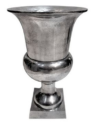 Casa Padrino Antique Style Vase Aluminum - Hotel Decoration - Baroque Flower Vessel Plant Pot