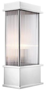 Casa Padrino Wall Lamp Silver 20 x 12 x H. 43 cm - Luxury Hotel & Restaurant Furniture – Bild 1