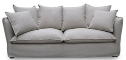 Casa Padrino Luxury Living Room Sofa Gray 215 x 100 x H. 102 cm - Luxury Quality