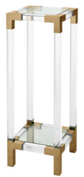 Casa Padrino luxury side table / pillar brass colors 35 x 35 x H. 100 cm - Designer Furniture