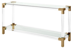 Casa Padrino luxury console brass colors 150 x 40 x H. 75 cm - Designer Furniture