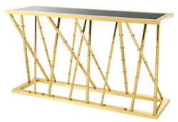 Casa Padrino Luxury Console Gold / Black 139.5 x 40 x H. 78 cm - Luxury Furniture