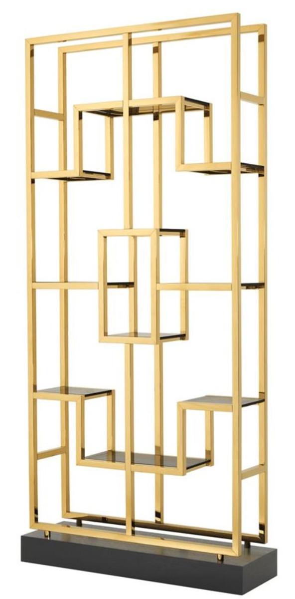Casa Padrino Luxus Wohnzimmer Regalschrank Gold / Schwarz ...