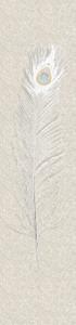 Harald Glööckler Designer Barock Vliestapete 52725 - Pfauenfeder - Beige / Creme – Bild 1
