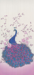 Harald Glööckler Designer Baroque Non-Woven Wallpaper 58512 - Peacock - Cream / Purple / Multicolor