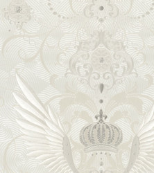 Harald Glööckler Designer Baroque Non-Woven Wallpaper 54457 - Eagle Wings - White / Beige / Cream