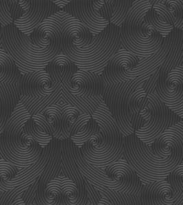 Harald Glööckler Designer Barock Vliestapete 54466 - Schwarz / Anthrazit / Metallic – Bild 1