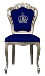 Pompöös by Casa Padrino luxury baroque dining chair blue / gold - Pompöös baroque chair designed by Harald Glööckler
