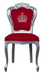 Pompöös by Casa Padrino luxury baroque dining chair red / silver - Pompöös baroque chair designed by Harald Glööckler
